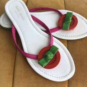 Kate Spade Spade Flip Flops Sandals 7